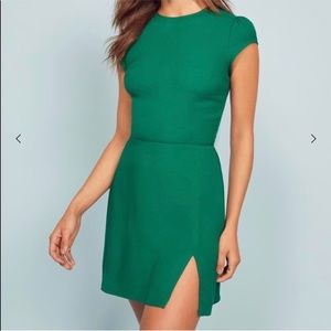 Reformation size 2 mini dress green